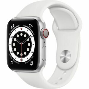Apple Watch Series 6 40 mm GPS + Cellular (2020 ) Silver Aluminium Case