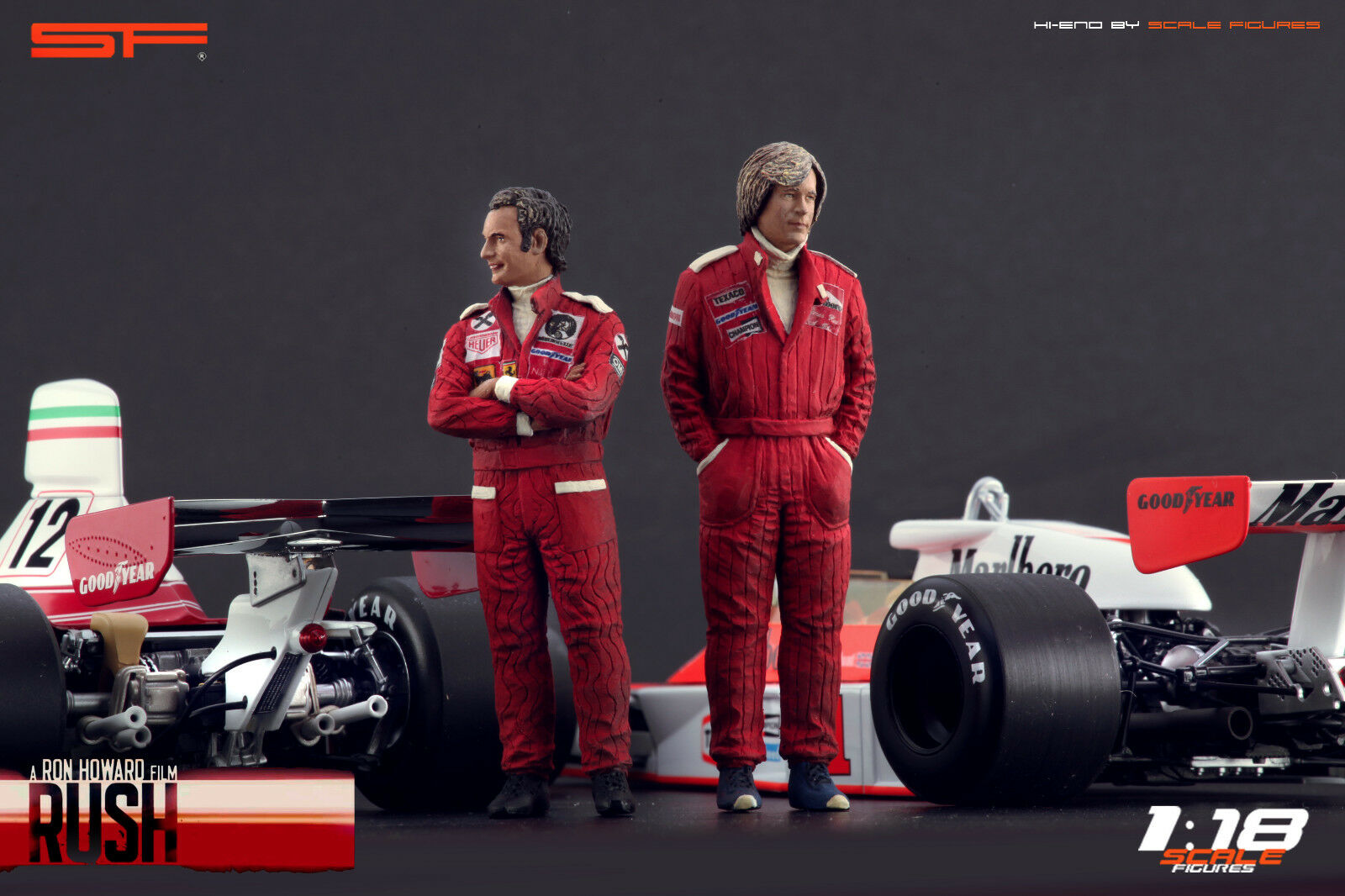 1 18 Niki Lauda & James Hunt VERY RARE    figurines NO CARS    for RUSH cars