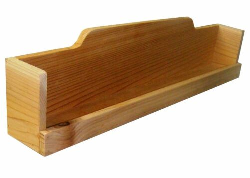 Optional Length 24-32 Inches Cedar Spice Rack for Stove Top or Wall Mounting