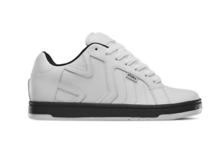 Black Leather/Textile Skate Shoes