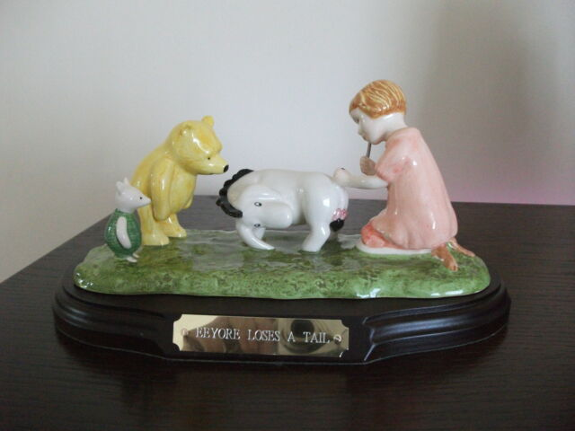 "Royal Doulton Figurine Disney ""Eeyore Loses a Tail"" Limited Edition"