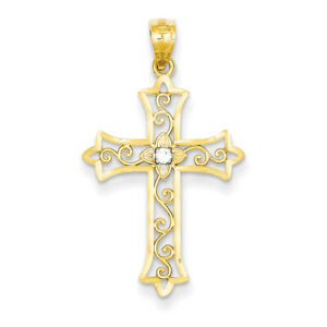 14k-Yellow-Gold-Diamond-Cross-Pendant-XR1232