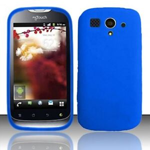 T-Mobile-Huawei-myTouch-Rubber-SILICONE-Soft-Gel-Skin-Case-Phone-Cover-Dark-Blue