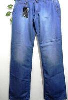Mondo Exclusive Men's Blue Casual Cotton Italian Stylish Jeans Size L 38 34