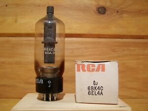One Rca 6bk4c 6el4a Beam Triode Vacuum Tube Nos Fully