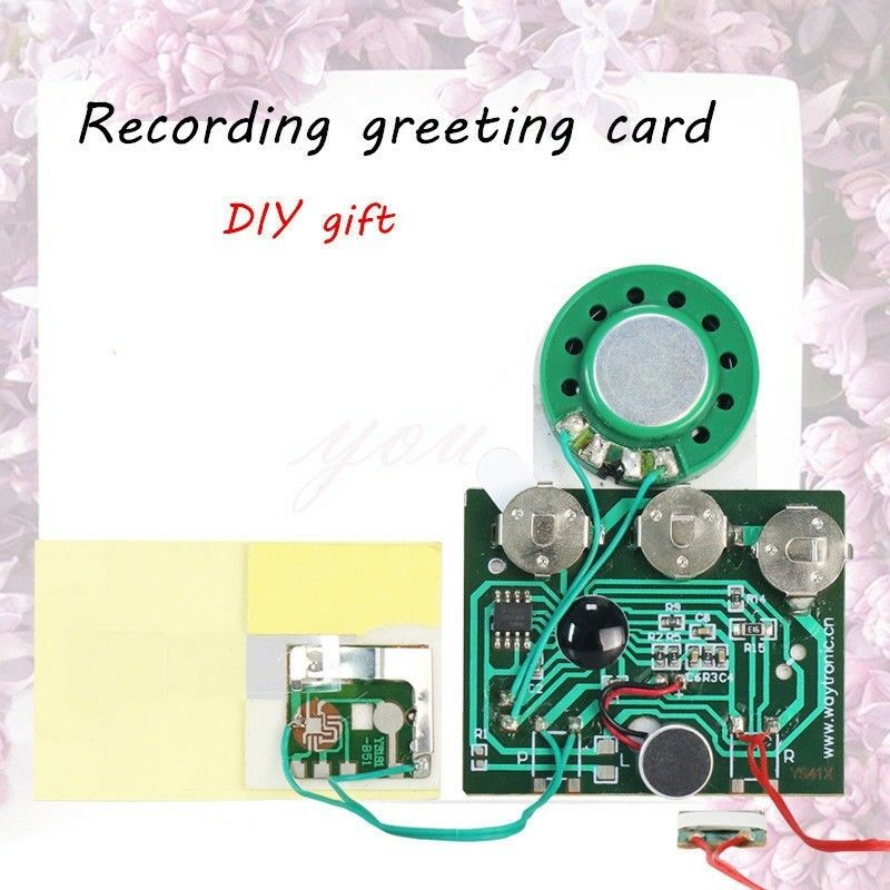 Details about 30s 0 5W Light Sensor Recordable Module Music Sound Chip  Board for Greeting Card
