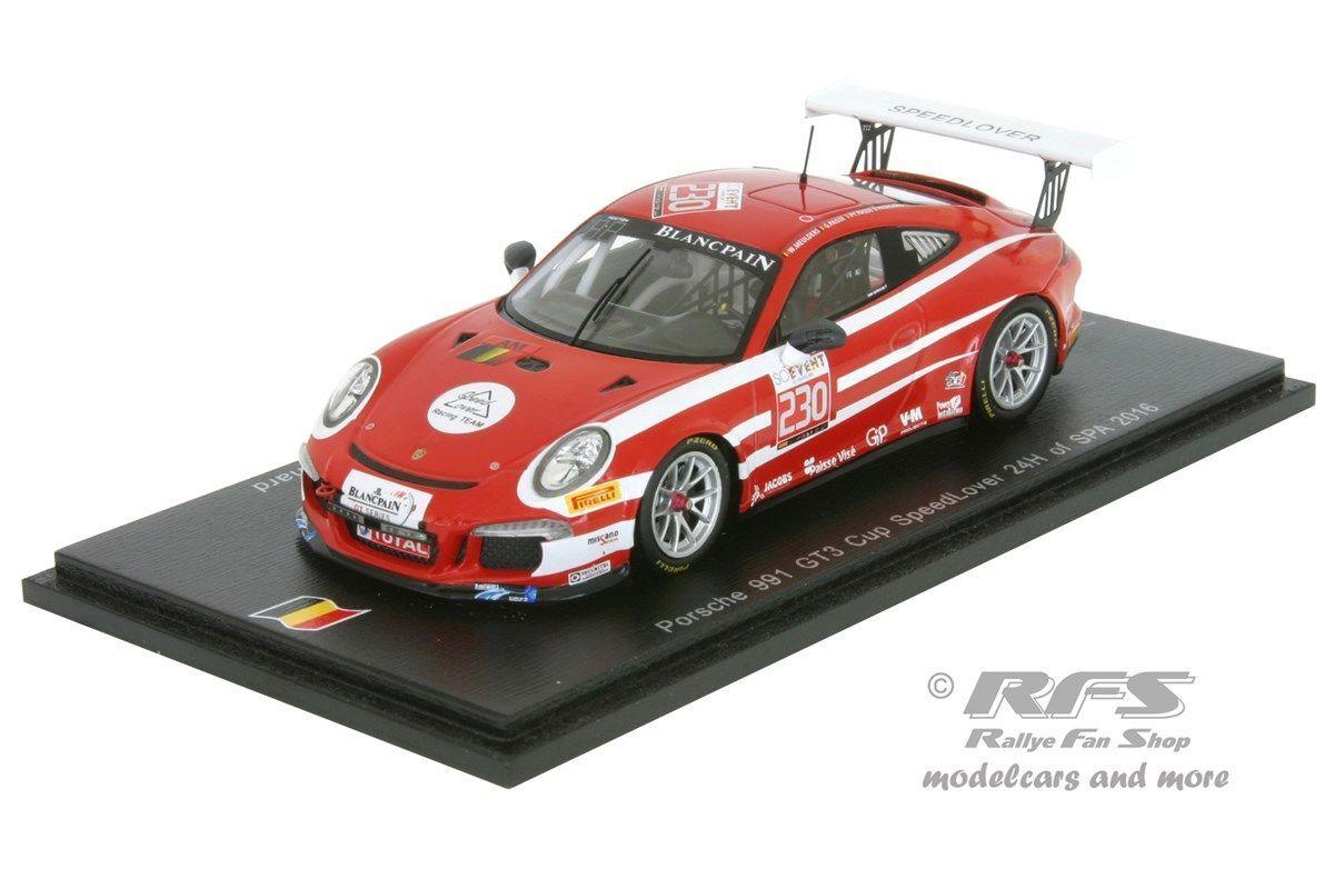 Porsche 991 gt3 - 24 hours of spa 2016-Meulders paisse - 1 43 Spark sb 134