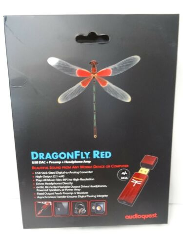 NEW AudioQuest DragonFly RED USB Digital-to-Analog Converter Latest Version