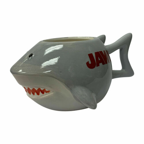 Jaws Shark 3D Sculpted Mug Molded Coffee Ceramic Sculpted Steven Spielberg
