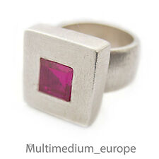 925 er Silber Ring mit rubin farbenen Stein sterling silver ring ruby color