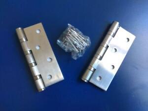 2-mal-Edelstahl-Tuerband-Scharnier-Beschlag-kugelgelagert-60kg-2-5mm