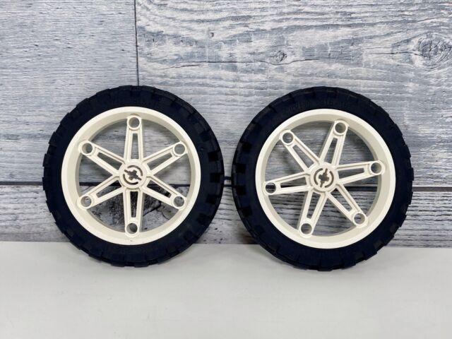 2 Lego Dark Stone Technic Motorcycle Wheels Motorbike Racing Tread 88517 For Sale Online Ebay