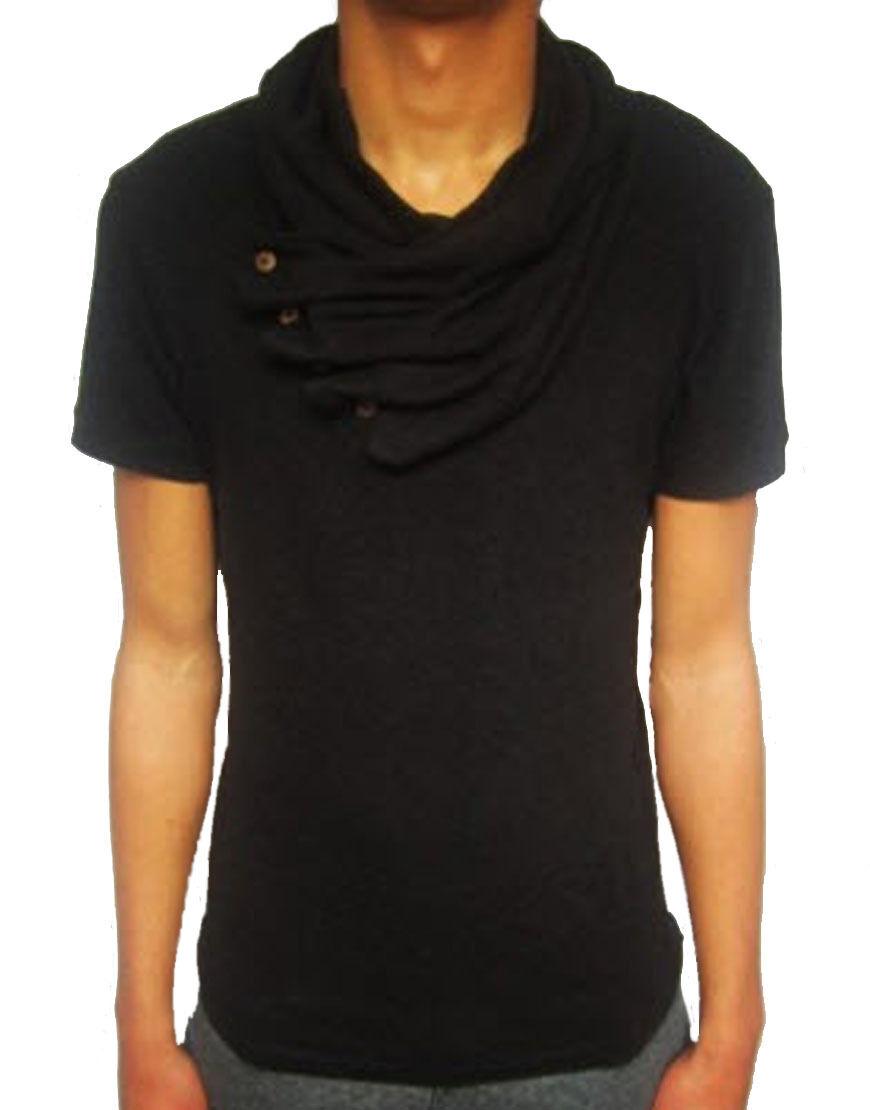 Pearly King Herren Dishevel T-Shirt Schwarz (PKTP012)