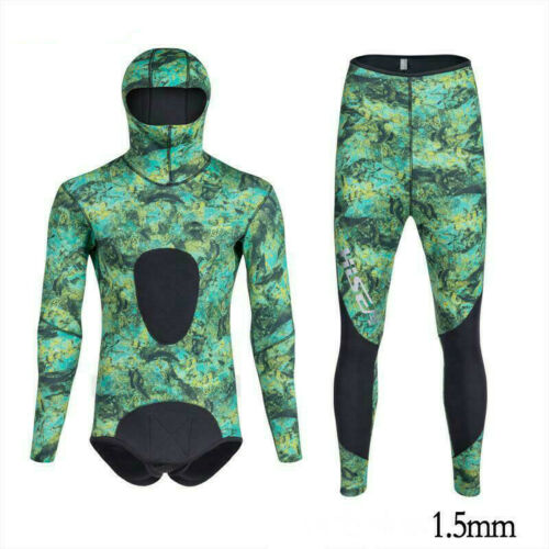 Details about  /1.5mm Camouflage Wetsuits CR Triathlon Smooth Skin Neoprene Men/'s Diving Suit