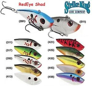 Strike-King-Red-Eye-Shad-Choice-of-sizes-amp-Colors