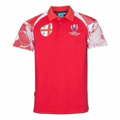 Rugby World Cup 2019 Wales Mens L//S Panel Rugby Shirt Red//Black XXL