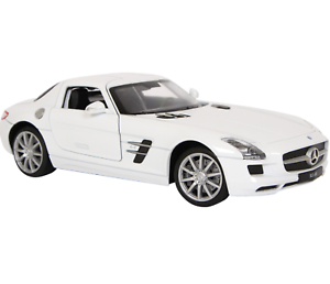 1-24-Welly-COCHE-MODELO-034-Mercedes-Benz-SLS-AMG-034-Edad-de-Metal-Color-Blanco-8