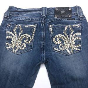 27 27x32 Taille Boot Medium Orn 5 Miss Wash Me Stitch Jeans Medium Taille basse q16WFpIw