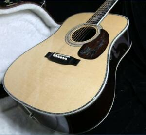 2018-High-Quality-Full-Solid-Acoustic-GUitar-Abalone-Inlay-Bone-Nut-and-Saddles