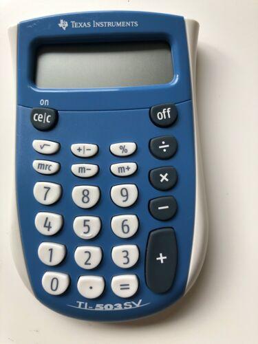 Good Condition Texas Instruments TI-503 SV 503SV SuperView Pocket Calculator