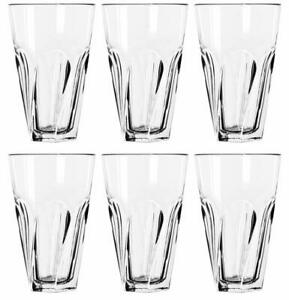 SET-OF-SIX-6-LIBBEY-GIBRALTAR-TWIST-COOLER-TUMBLER-GLASS-16-OZ-MADE-IN-USA