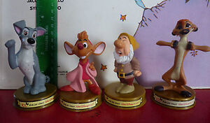 Special-Lot-of-4-Toys-Sneezy-Dwarf-Timon-Tramp-Cinderella-039-s-Jaq