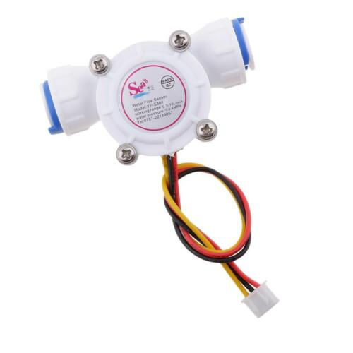 """3//8/"""" Quick Connect 0.3-10L//min Water Hall Effect Flow Sensor Meter 0.8MPa"""