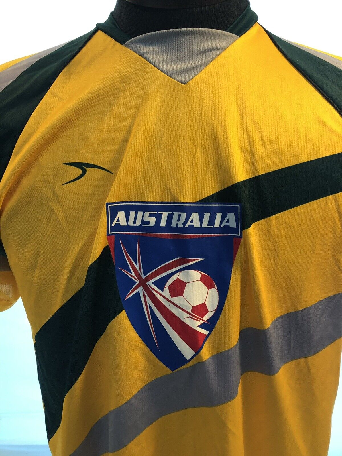 d5182c0e459 Mens SCORE AUSTRALIA Yellow Jersey Polyester Soccer nuymsh4065-Men ...