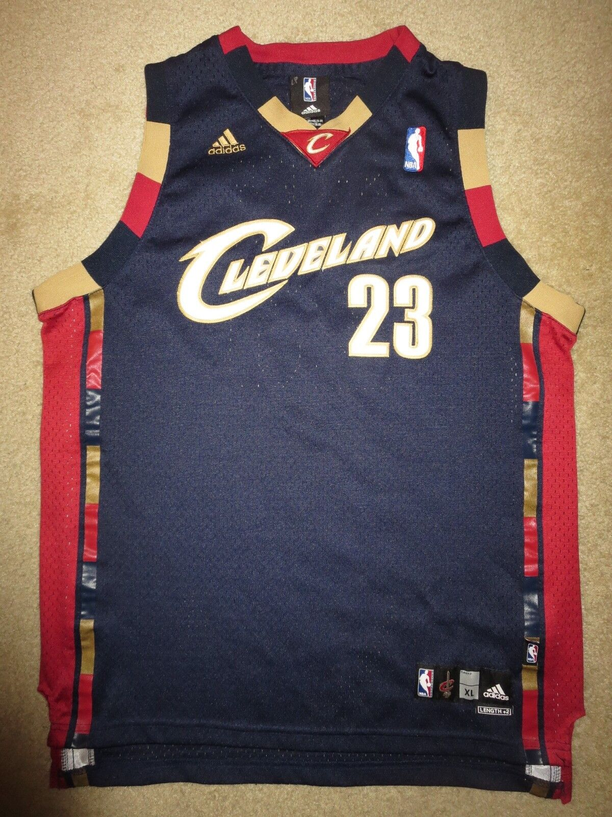 Lebron James  23 23 23 Cleveland Kavaliere NBA Finals Trikot Jugendliche XL 18-20 Kind c85276