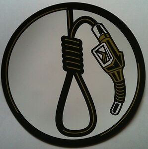 2-TWO-Magnetic-Car-Locker-Stickers-GAS-NOZZLE-NOOSE-MADE-IN-USA-NEW