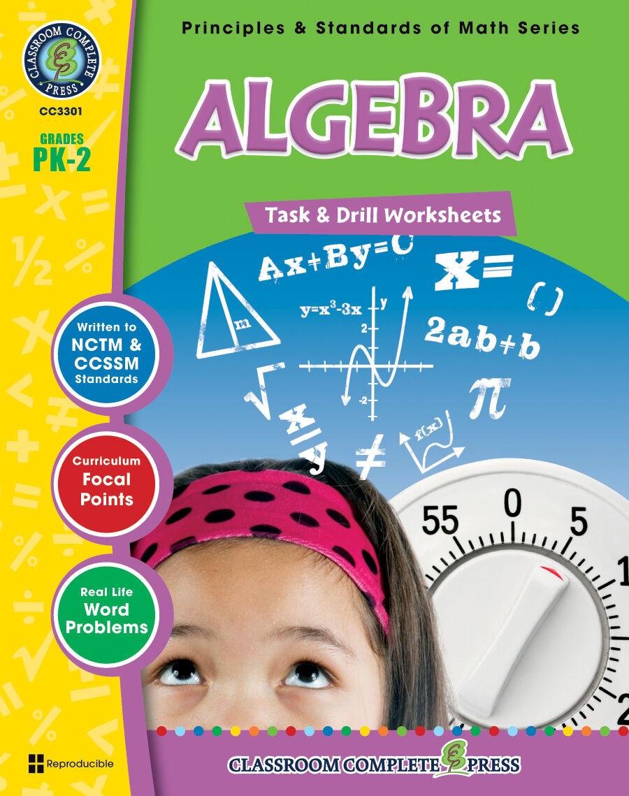 Algebra - Task & Drill Sheets, Grades PK-2 MATH - DOWNLOAD ...