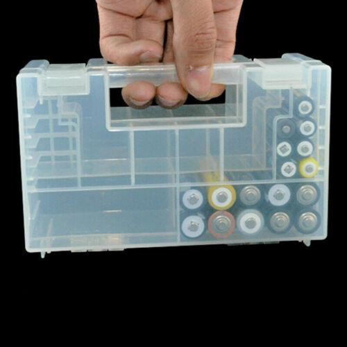 Hard Plastic Battery Case Portable Storage Box Holder Organiser AA AAA C Supply