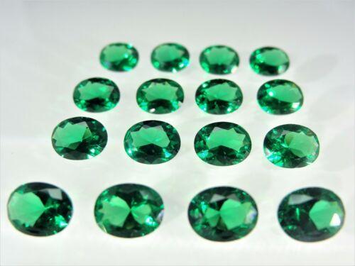 Emerald Green Oval Shape SIZE CHOICE Loose Stones Nanocrystal Gemstones