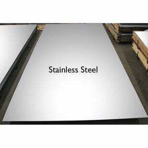 Brushed Stainless Steel Sheet Plate 0 9mm 1 2mm 1 5mm Thick Many Lengths Ebay