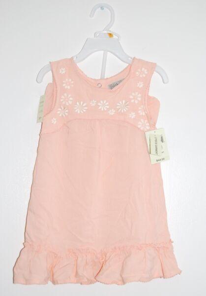 NWT Lucky Brand Toddler Girls 2pc Peach Orange Tank Dress & Bloomer Set, sz 3T