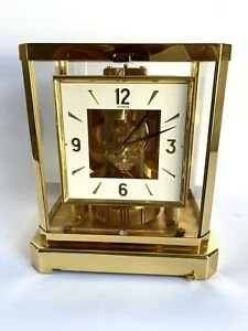 Atmos Jaeger Le Coultre Clock, Working Swiss Made with Catalog.