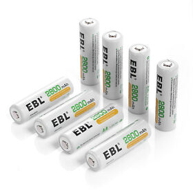 8x 2800mAh AA Rechargeable Battery