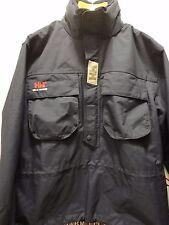 HELLY HANSEN Navy Anorak Sailing Pullover Jacket Packable Hood Medium fits Large