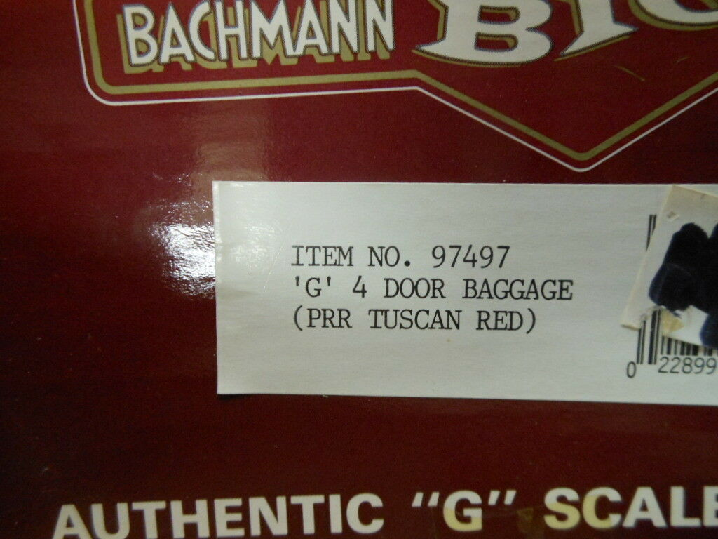 Bachmann G Scale Baggage Baggage Baggage with Metal Wheels PRR 97497