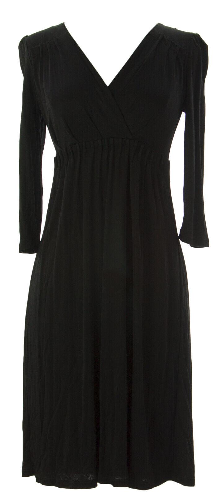 BODEN Woherren schwarz Empire Waist Grace Dress WH418 US Sz 2R  NWOT