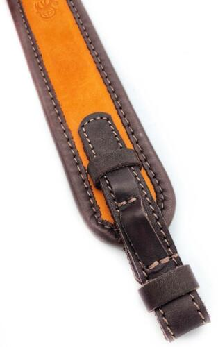Leather Rifle Sling Padded Gun Hunting Straps 2 Point Tactical Shoulder Shooting