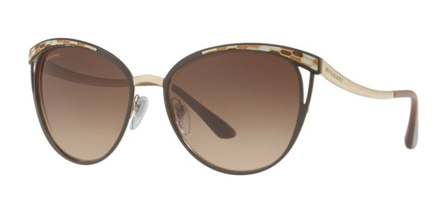 bddbd4cd23d4 Bvlgari SERPENTI BV 6083 brown dark brown shaded (2030 13) Sunglasses