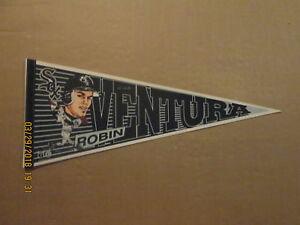 MLB-Chicago-White-Sox-Vintage-MUDGE-Robin-Ventura-Logo-Baseball-Photo-Pennant