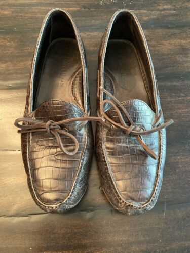 Cole Haan Brown Alligator Leather Moccasin Size 10