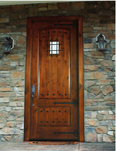 Details About 3068 Knotty Alder Arch Top Tuscan Style Entry Door Unit