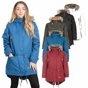 Trespass-Womens-Parka-Jacket-Waterproof-Hooded-Fur-Winter-Coat-XXS-XXXL