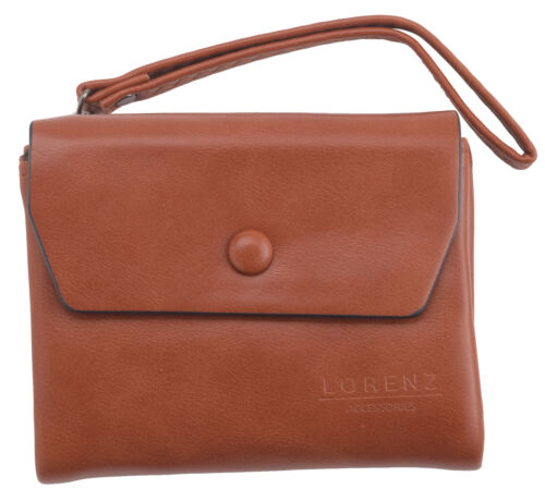 Ladies Womens RFID Blocking Soft Faux Leather Purse Wallet 2 Zipped Compartments