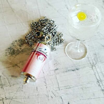 Unique GIN /& TONIC NECKLACE  handcrafted DESIGNER drink G/&T bar pub GORDONS can