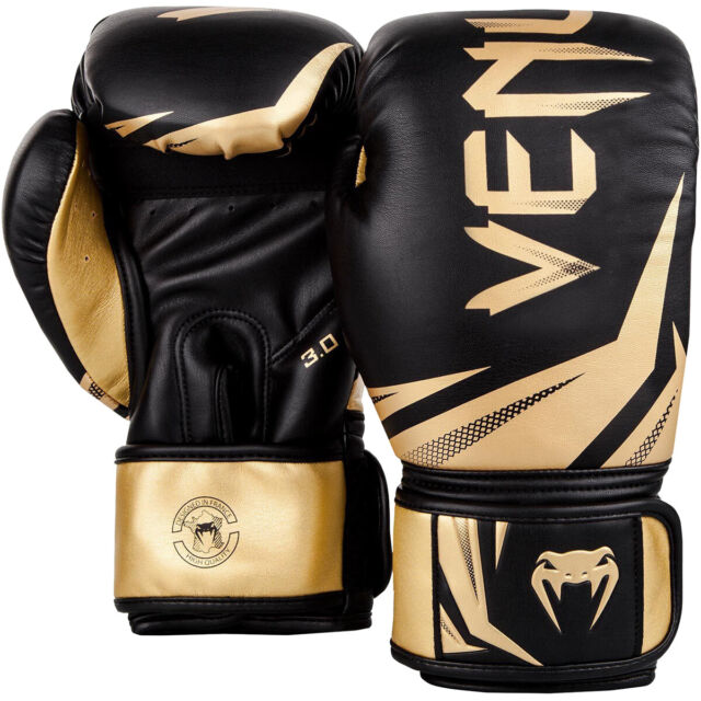 BLACK//GOLD VENUM CHALLENGER 2.0 BOXING GLOVES