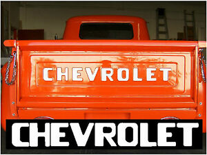 54 87 Stepside Chevy Pickup Truck Tailgate Decal Letters 67 72 73 80 81 87 Ebay